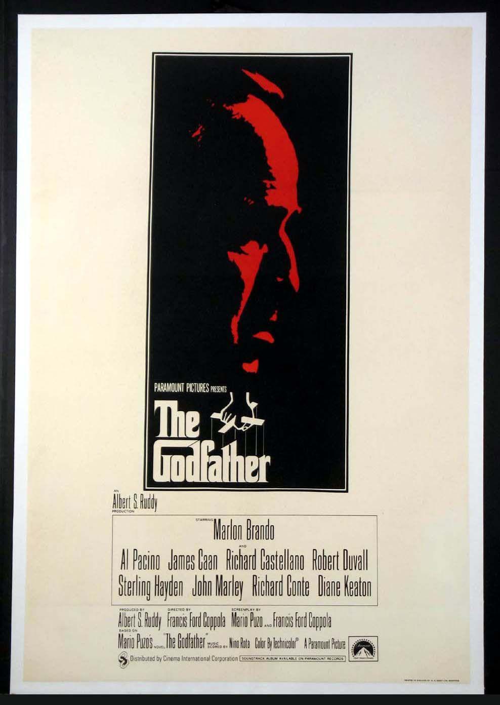 The Godfather 1972 Original British One Sheet Size 27x40 Movie Poster The Godfather Poster The Godfather Godfather Movie