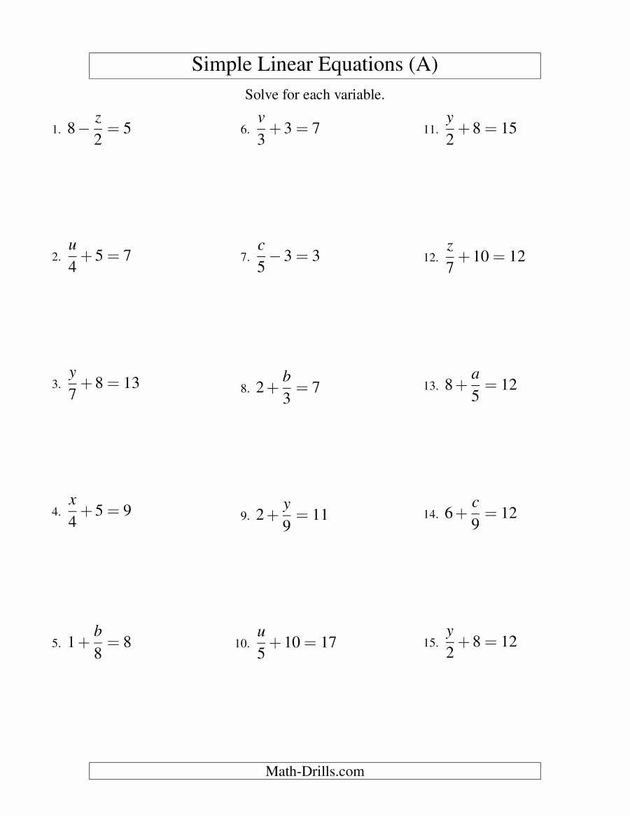 Solving For Y Worksheet Solving For Y Worksheet Awesome Solving Linear Equations In 2020 Solving Linear Equations Solving Equations Linear Equations