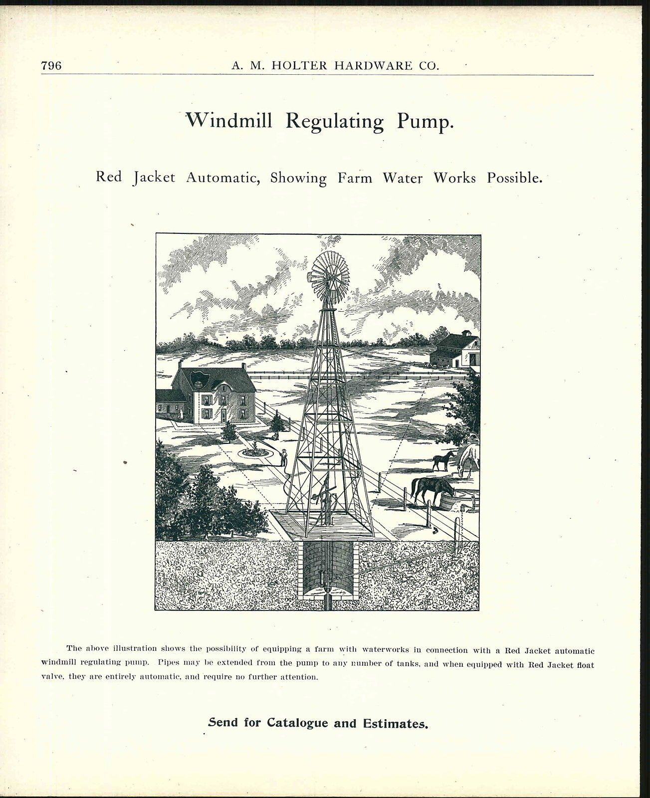 1907 advertisement diagram drawing farm windmill regulating pump 1907 advertisement diagram drawing farm windmill regulating pump horse farmer ebay pooptronica Gallery