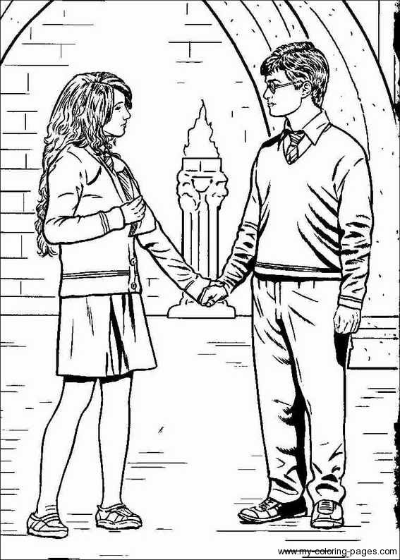 free harry ron and hermione coloring pages - Harry Potter Coloring Pages Ginny