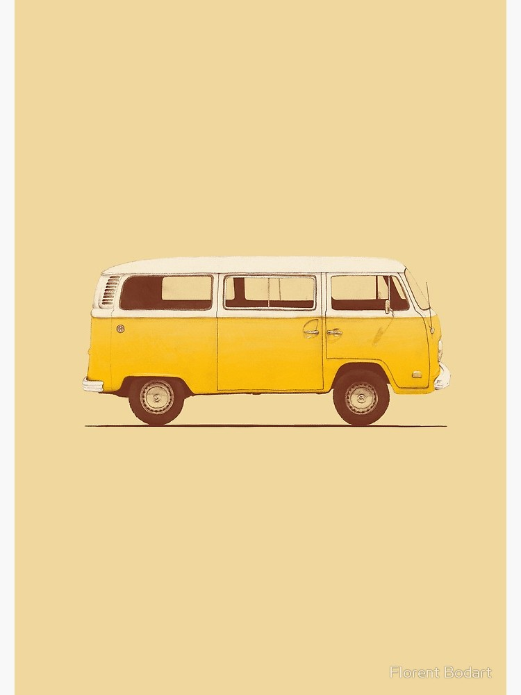 Yellow Van Spiral Notebook By Florent Bodart In 2020 Yellow