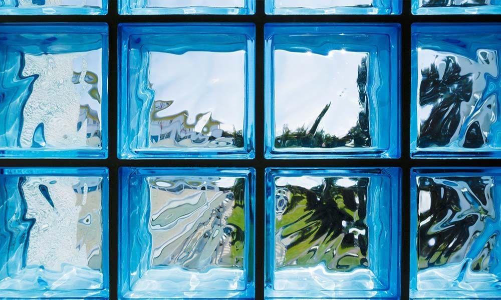 Pose de briques de verre en 2020 pav de verre brique - Montage brique de verre exterieur ...