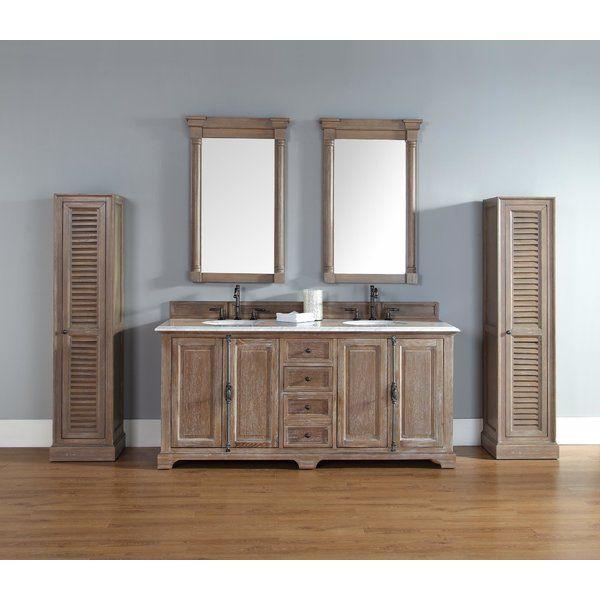 Ogallala 72 Double Driftwood Bathroom Vanity Set Bathroom Sink