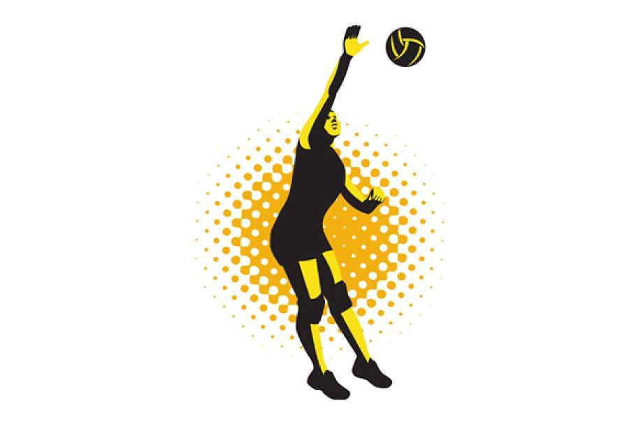 Volley Sports Wear Logo In 2020 Volleyball Players Sport Wear Volley