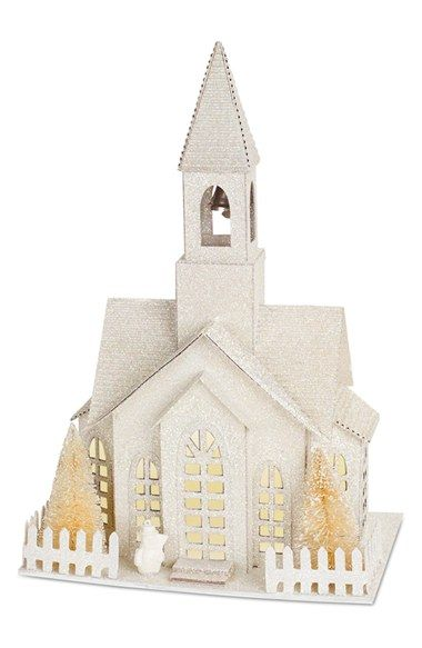 Free shipping and returns on Melrose Gifts LED Church Decoration at Nordstrom.com. A beautiful, glitter-frosted church decoration is illuminated inside with twinkling LED lights.