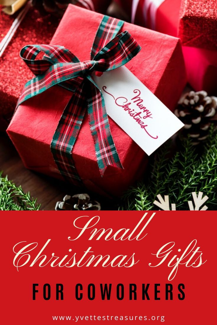 I've put together a great list of 15 small Christmas gifts especially for coworkers. They're fun, they're practical and will make great keepsake gifts for coworkers. Use as secret Santa gifts as well. #giftsforcoworkers #christmasgifts #officegifts #christmasgiftideas #yvettestreasures #