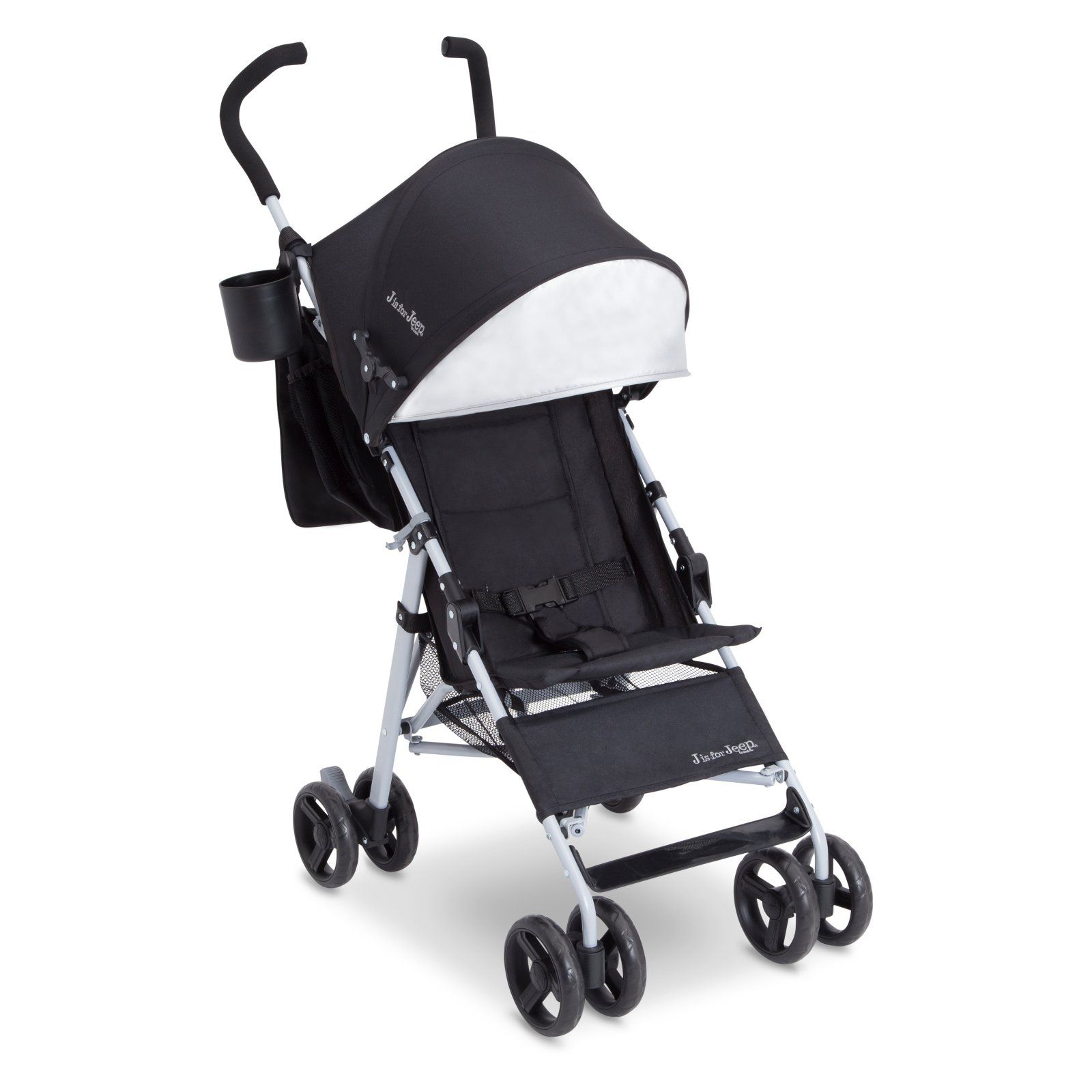 J is for Jeep North Star Stroller Black / Baby Blue