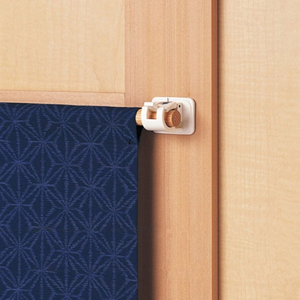 Durable Round Stick Self Adhesive Hook Rods Bracket Curtain Clips
