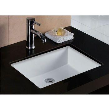 Wells Sinkware Rhythm Series White China Undermount Bathroom Sink