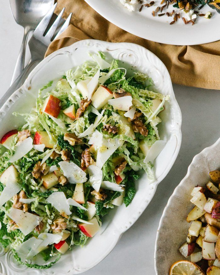 Apple Walnut And Savoy Cabbage Salad A Couple Cooks Cabbage Salad Best Cabbage Recipe Cabbage Recipes