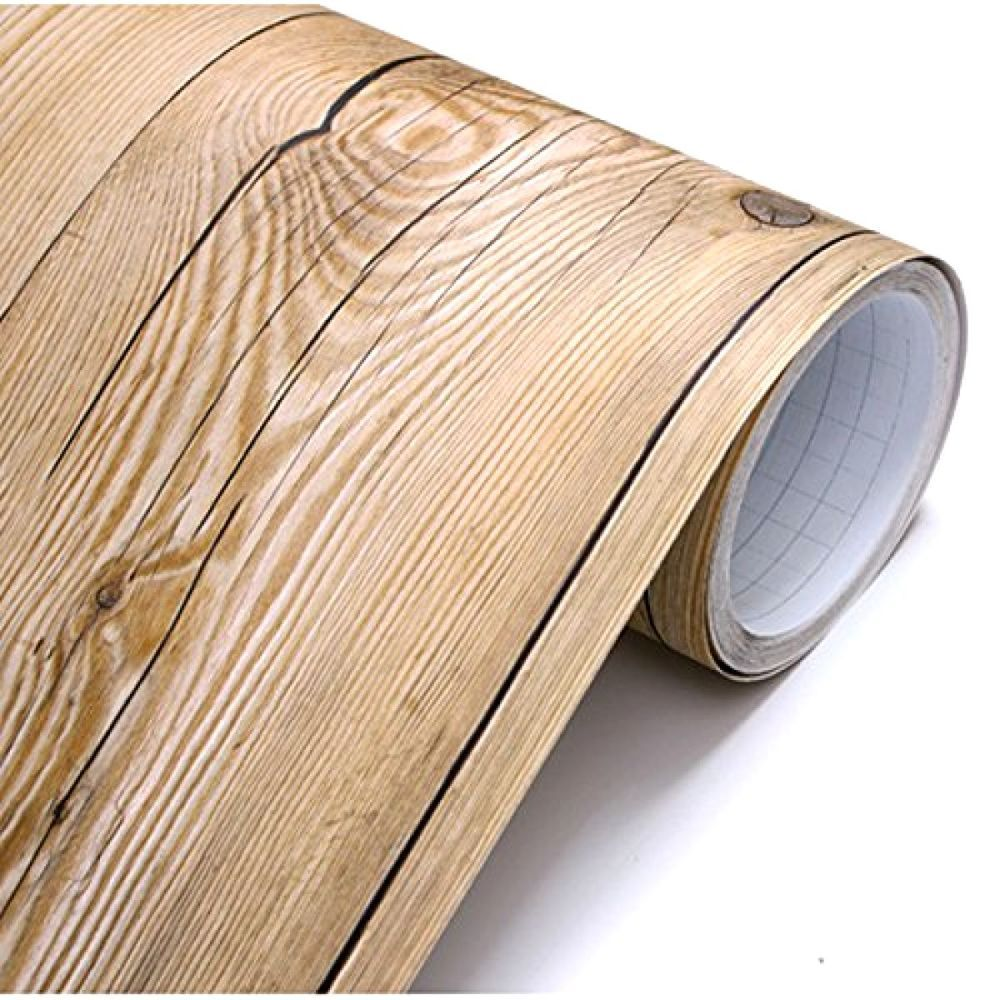 Self Adhesive Contact Paper Vintage Wood Wallpaper Decorative Cover Vinyl Roll Wood Paneling Contact Paper White Wood Paneling