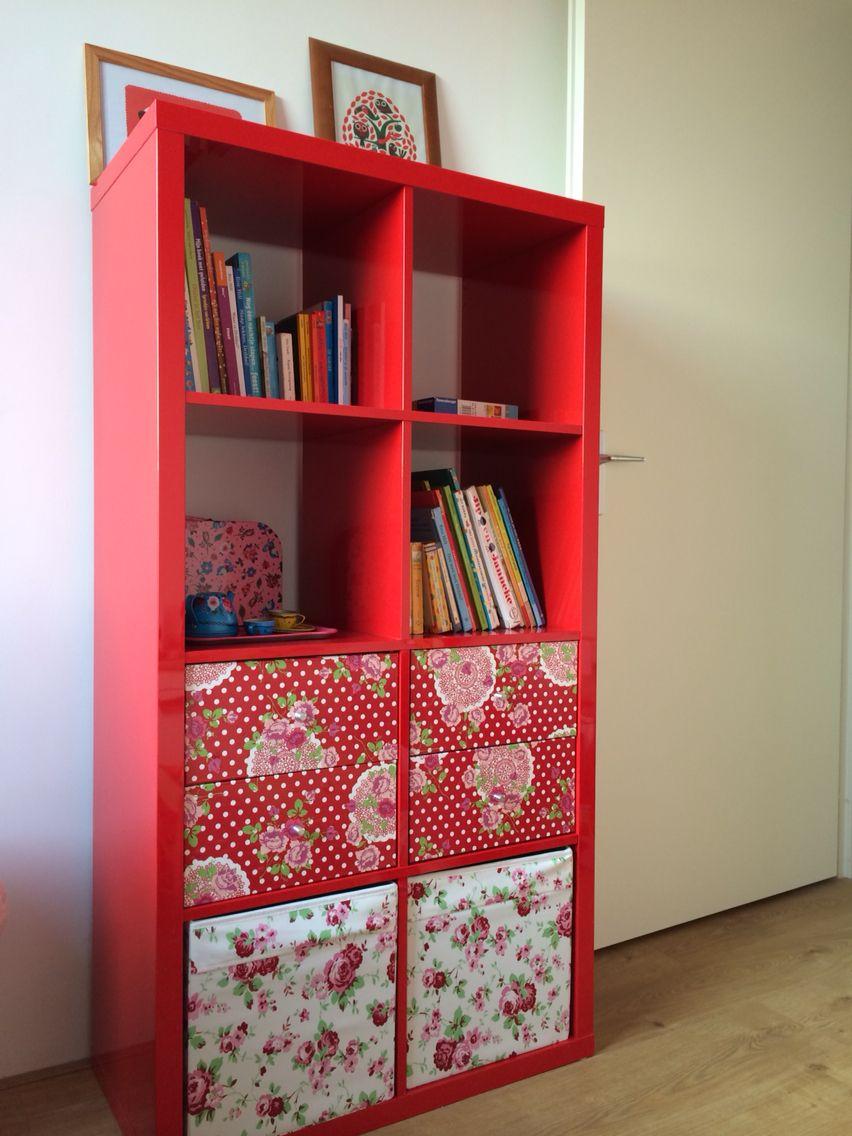Ikea Kallax Hack Laatjes Van De Kast Beplakt Met Plakfolie