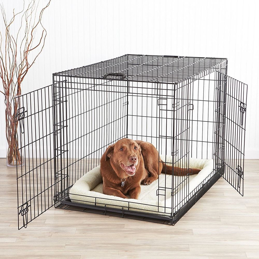 Large Dog Crate Xxl Kennel Extra Huge Folding Pet Wire Cage Giant Breed Size Cat Pet Supplies Dog Supplies Cages Crate Big Dog Crates Dog Crate Dog Cages
