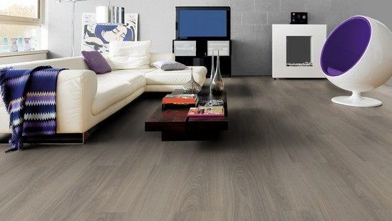 14-living modern mobila alba pereti si parchet culoare gri - laminat wohnzimmer modern
