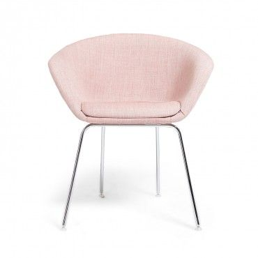 Arper Pale Pink Duna Lounge Chair | revitalize | Pinterest ...