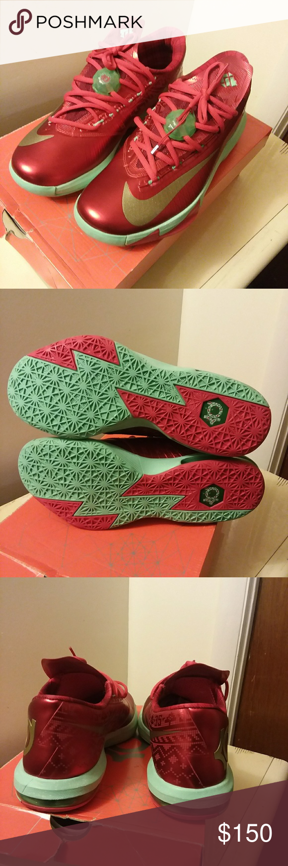 Nike KD6 Christmas | My Posh Picks | Pinterest | Size 10, Shoes ...