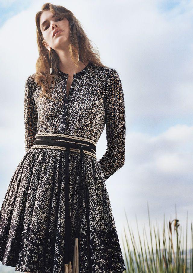 Robe imprimée esprit dentelle Robes | Maje robe