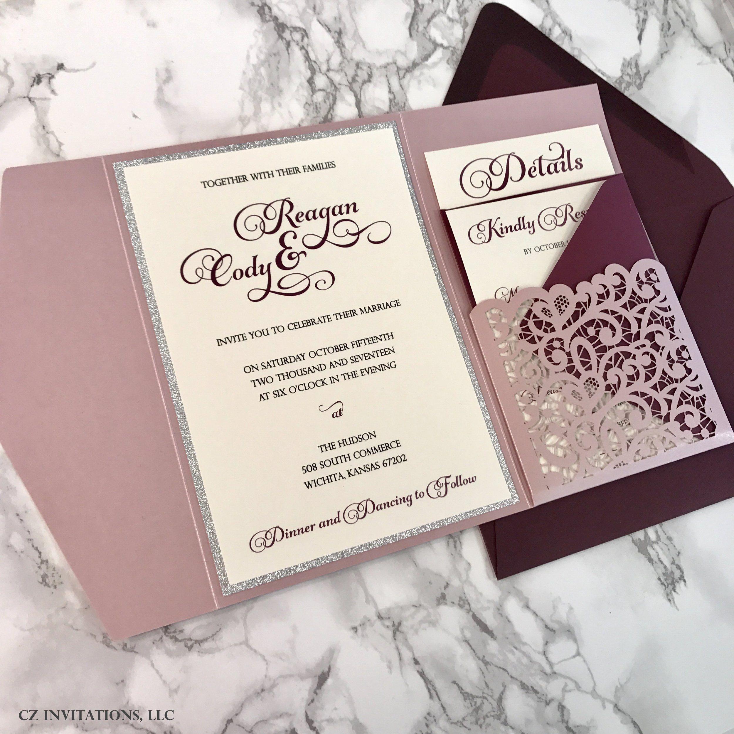 We love this Laser Cut Pocket Wedding