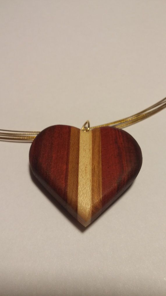 Handcrafted Wood Pendant by SleepyDogGallery on Etsy
