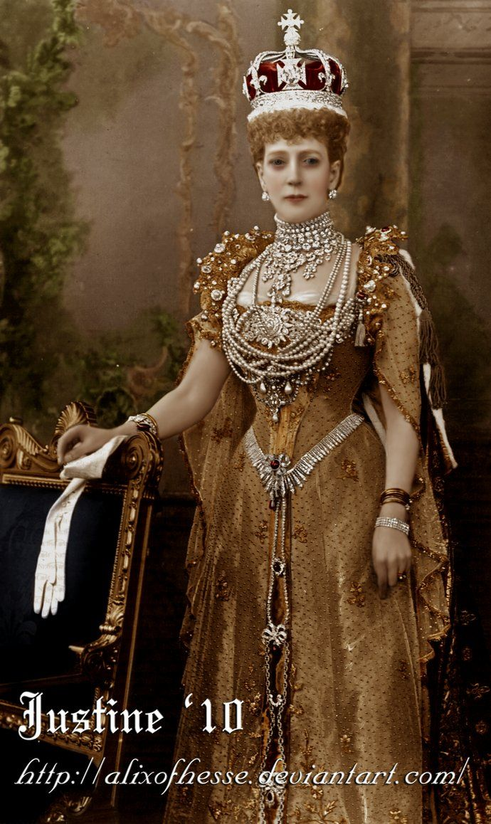 Queen Alexandra, wife of King Edward VII of Great Britain
