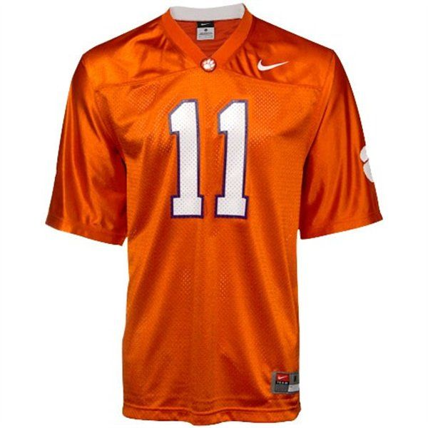 Nike Clemson Tigers 11 Replica Football Jersey Orange
