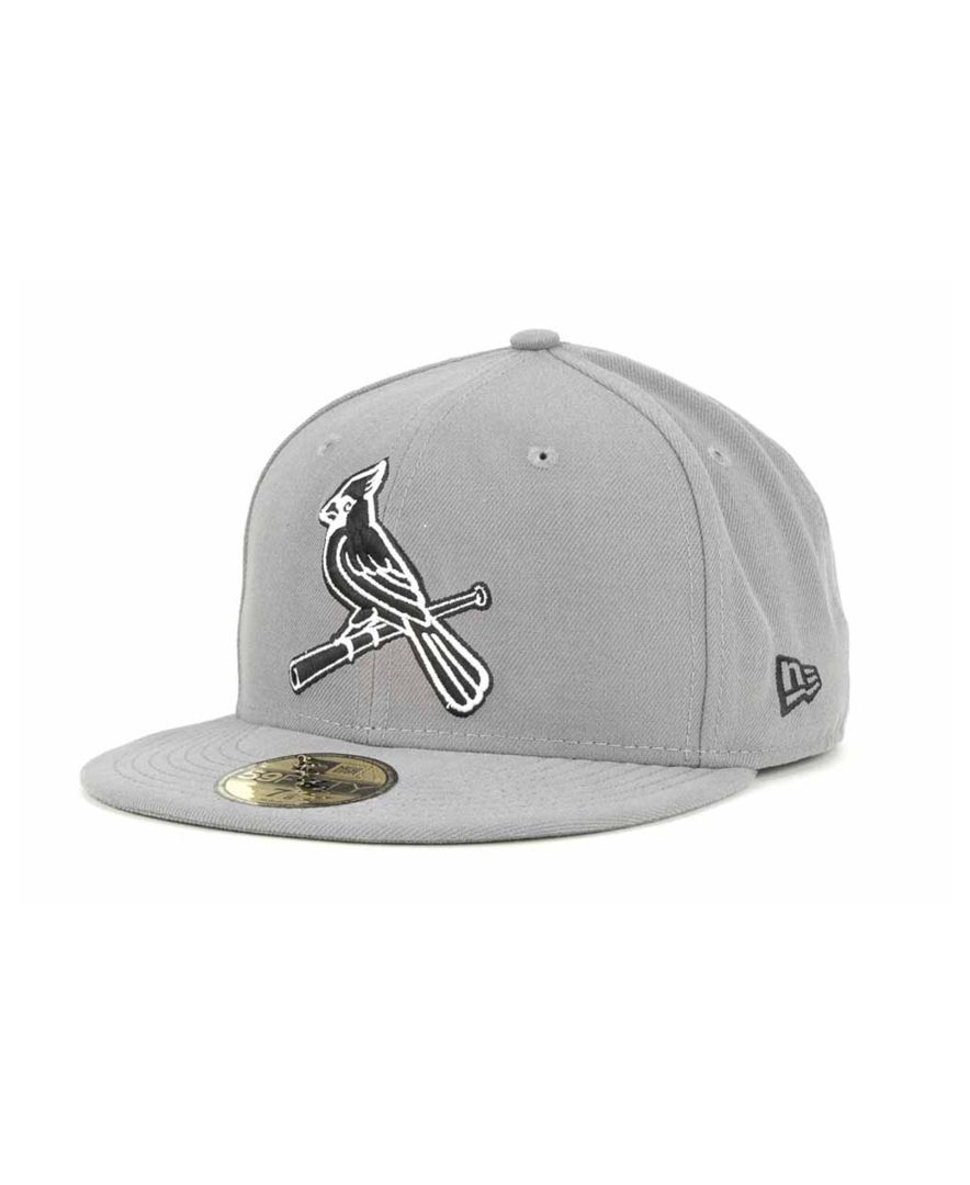 New Era St Louis Cardinals Gray Bw 59fifty Cap Fitted Hats Cardinals Hat Cap