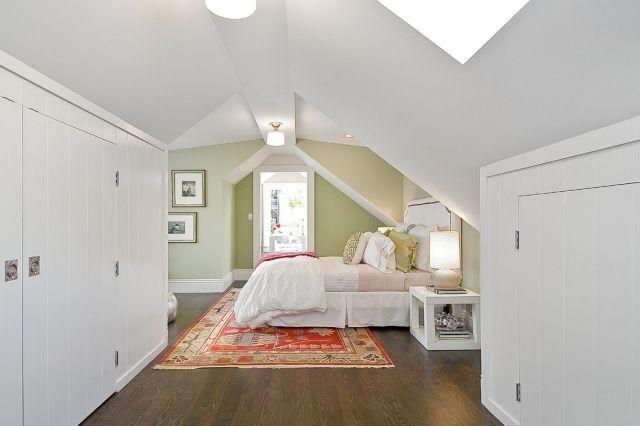 Dachgeschoss Wandfarbe Schrankdachschräge Wandschrank Pinterest
