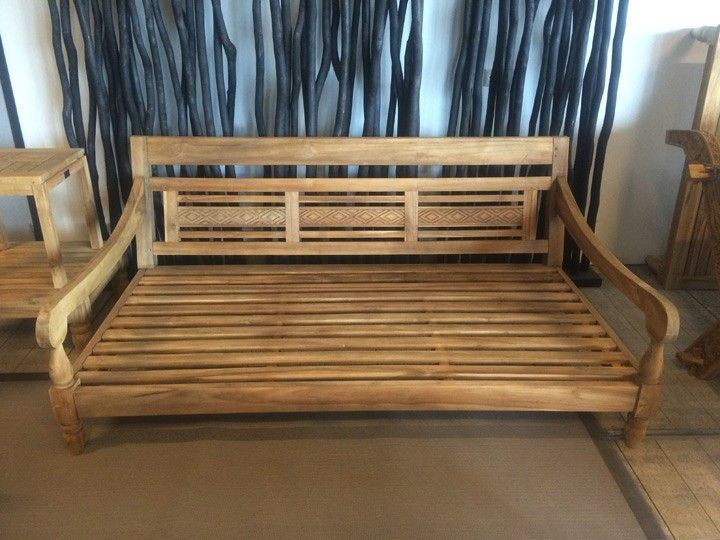 Lounge sofa outdoor teak  KAWAN XL Lounge Garten Outdoor Sofa Teak Recycled mit Kissen ...