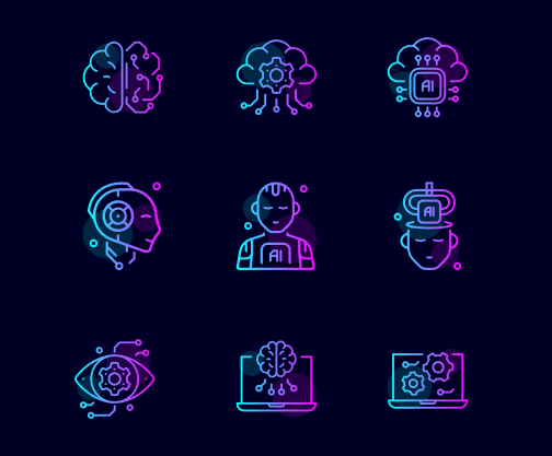 Free Artificial Intelligence Svg Icons Titanui Machine Learning Artificial Intelligence Artificial Intelligence Artificial Intelligence Algorithms