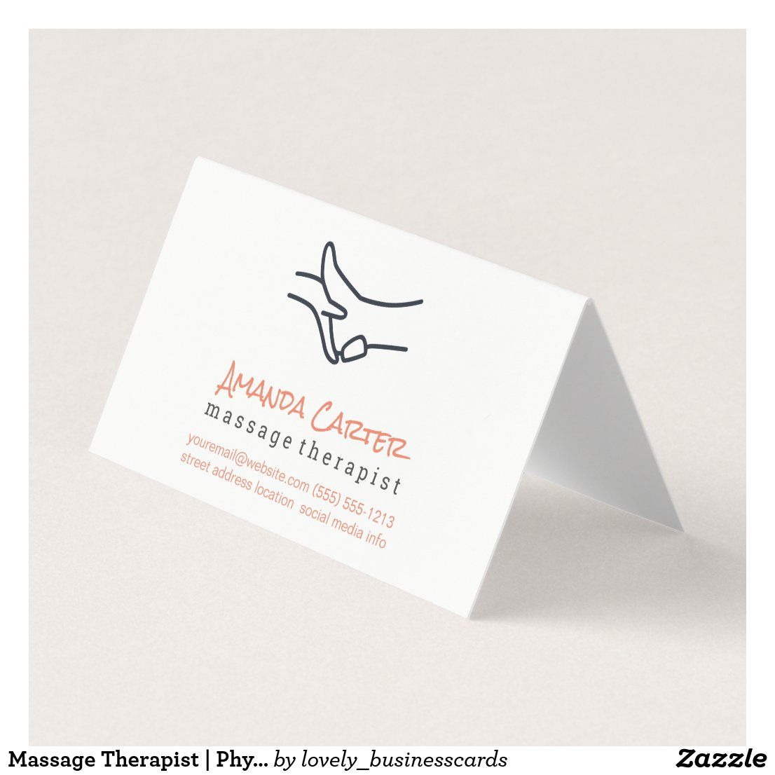 Massage Therapist Physical Therapist Business Card Zazzle Com Massage Therapist Physical Therapist Fitness Business Card