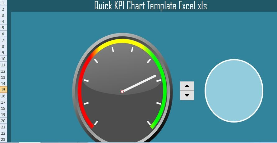 Quick KPI Chart Template Excel (XLS) Excel Project Management - chart excel