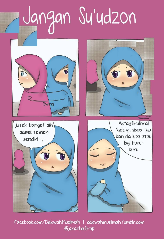 Gambar Kartun oleh NyanNyan ( = ω =)ฅ♡ pada Islam Lucu