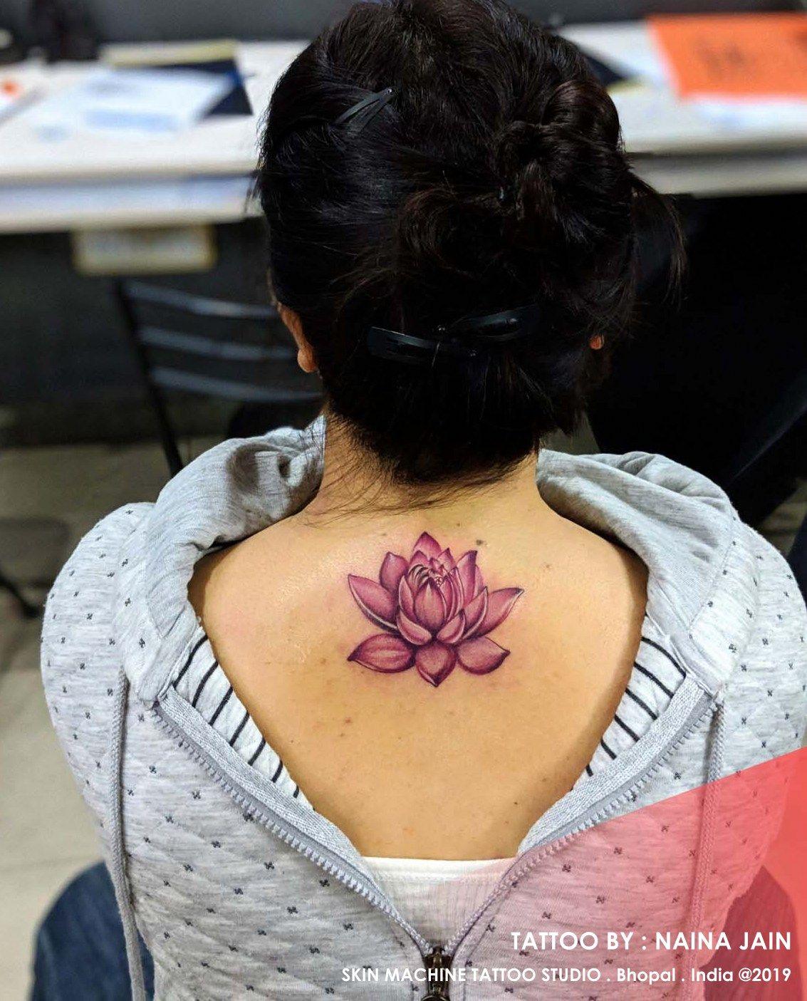 26785537a Beautiful Lotus tattoo by : Naina Jain Skin Machine Tattoo Studio  @skinmachinetattoo Email for appointments : skinmachineteam@gmail.com