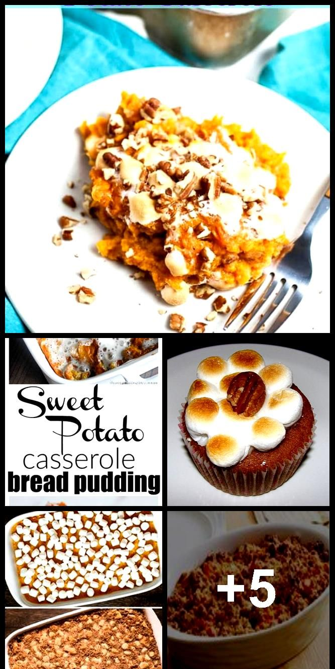 This easy  make ahead sweet potato casserole with marshmallows is healthy and ca... #healthymarshmallows