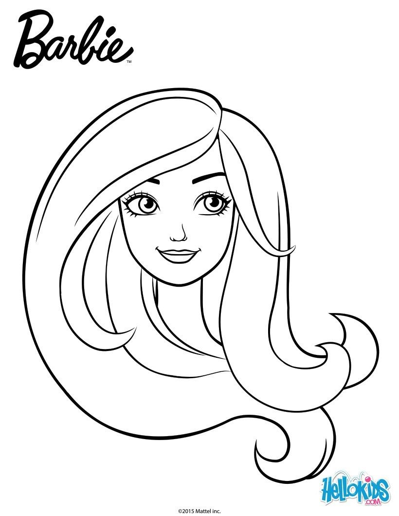 Barbie portrait barbie printable Coloring mandalas