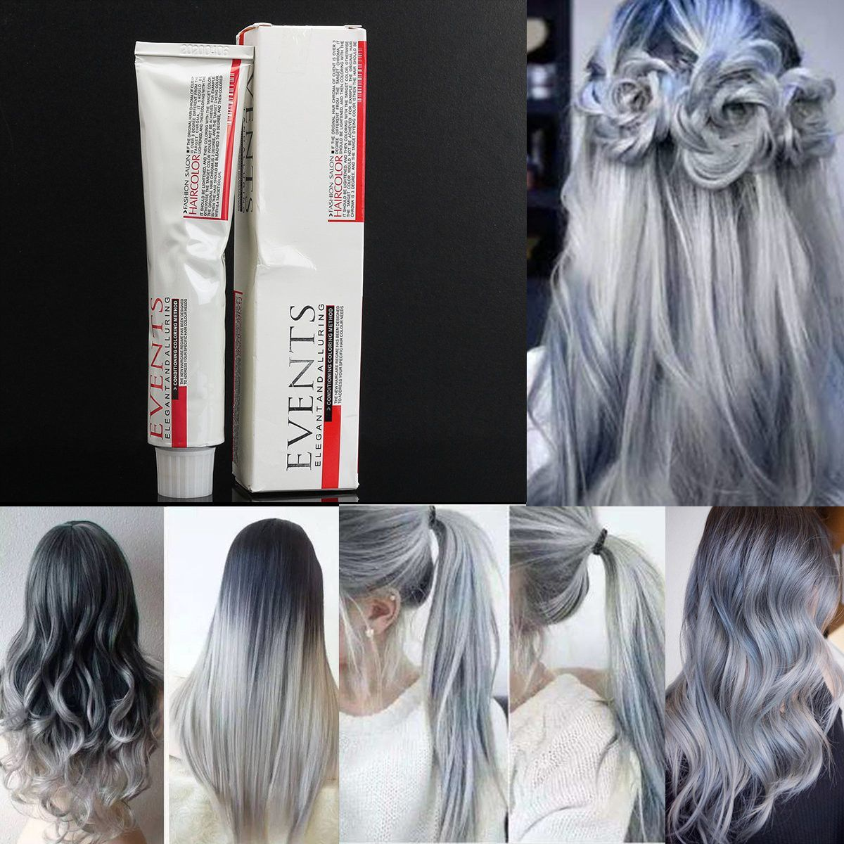 Light Gray Hair Dye Color Cream Fashion Styling Diy For Men Women