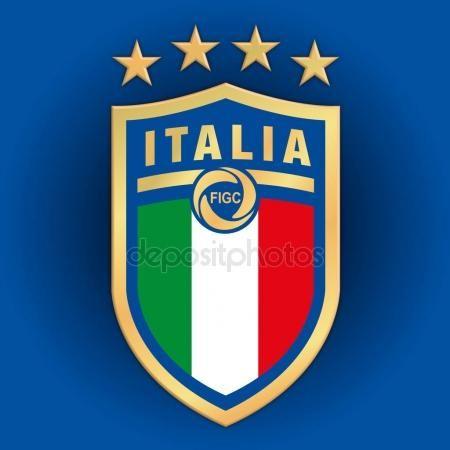 Fgci New Logo Italian Football Federation Figc On Iblue Background Italy National Football Team Football Logo Football Wallpaper