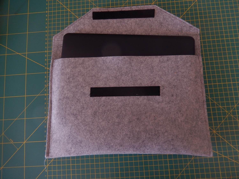 Tasche, Laptop, Computer, Anleitung, nähen, Laptoptasche, diy, Filz ...