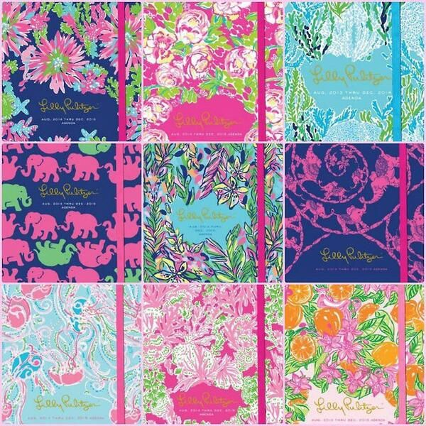 2014-2015 Lilly Pulitzer agenda covers