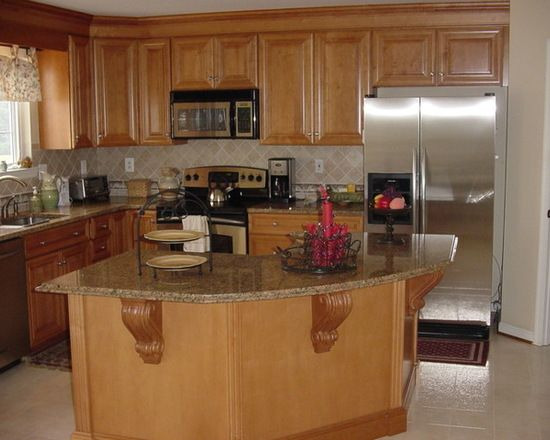 best l shaped kitchen with light wood cabinets raised panel cabinets granite countertops and on kitchen remodel light wood cabinets id=66749
