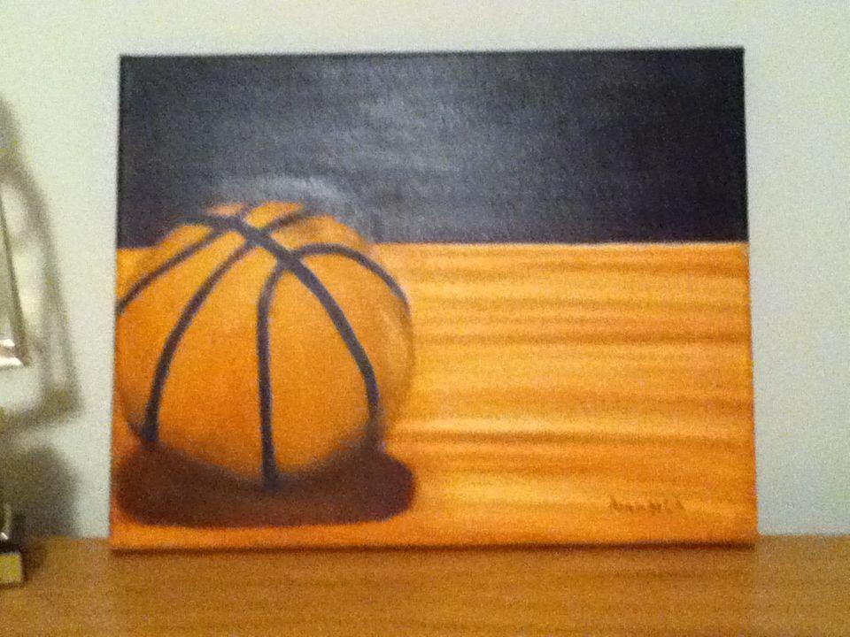 My Basketball Painting Basketball Painting Basketball Canvas Painting Sports Painting