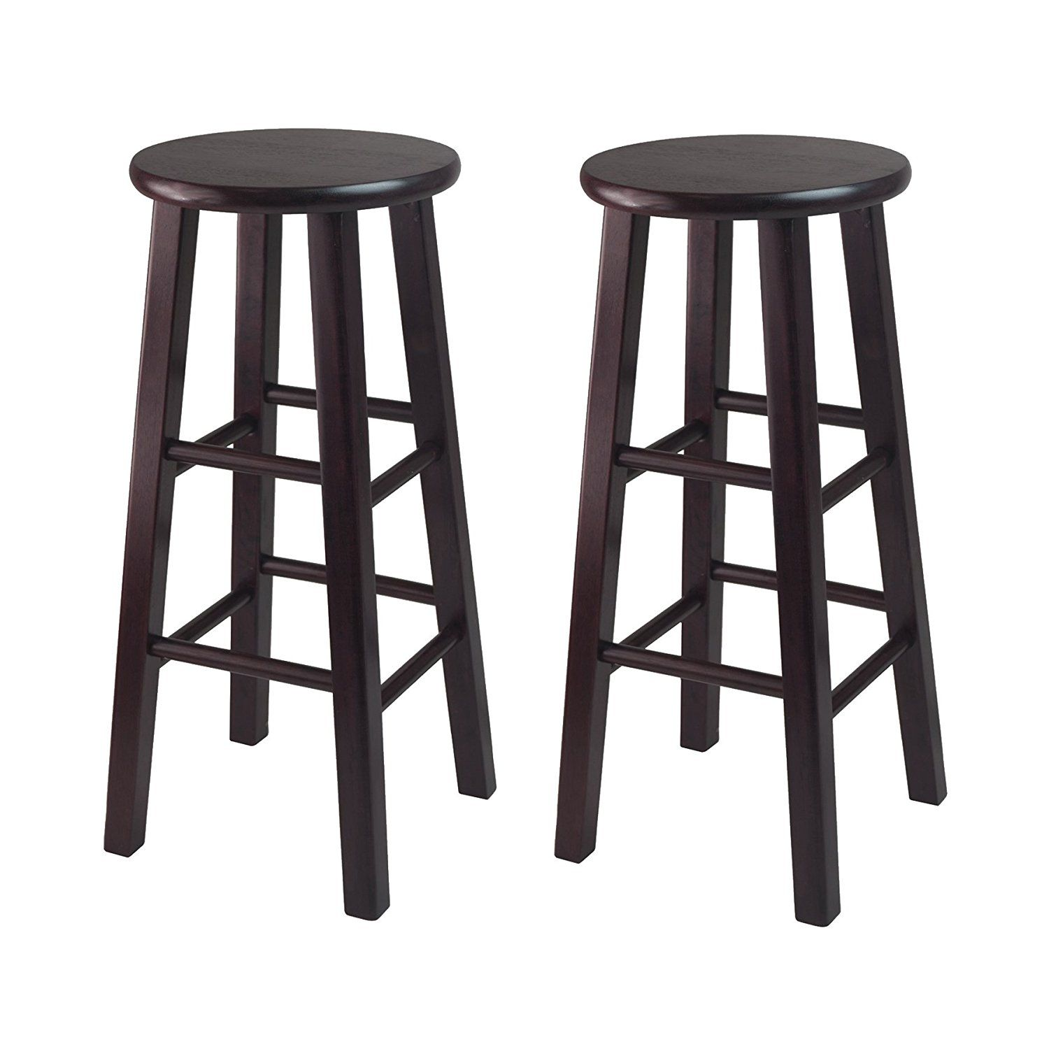 Amazoncom Winsome Bar Stool With Square Legs, 29 Inch, Espresso