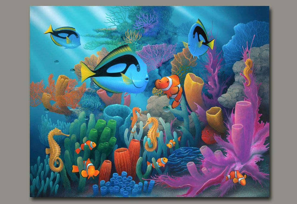 Under the ocean and marine life paintings by Artist David Miller ...