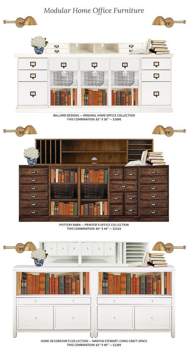 Modular Home Office Furniture Storage Desk
