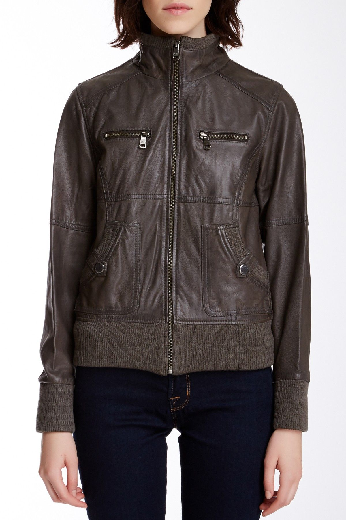 Andrew Marc Scarlett Leather Jacket (With images