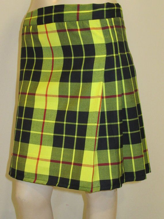 25e1abdbf MacLeod of Lewis Kilt~Ladies Mini Plaid Kilt Yellow Black Red~Tartan Plaid  Mini Kilt~Highland Games~MacLeod Ladies Kilt @sohoskirts