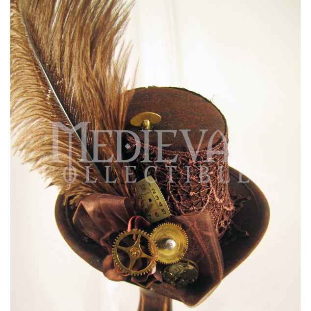 Miniature Brown Steampunk Top Hat - MCI-6520 by Medieval Collectibles