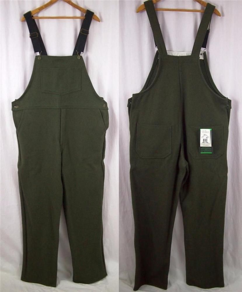 25b72c83c6751 Find many great new & used options and get the best deals for Codet Green  Wool Blend Bib Overalls Pants Hunting Canada L Reg 36x30 at the best online  prices ...