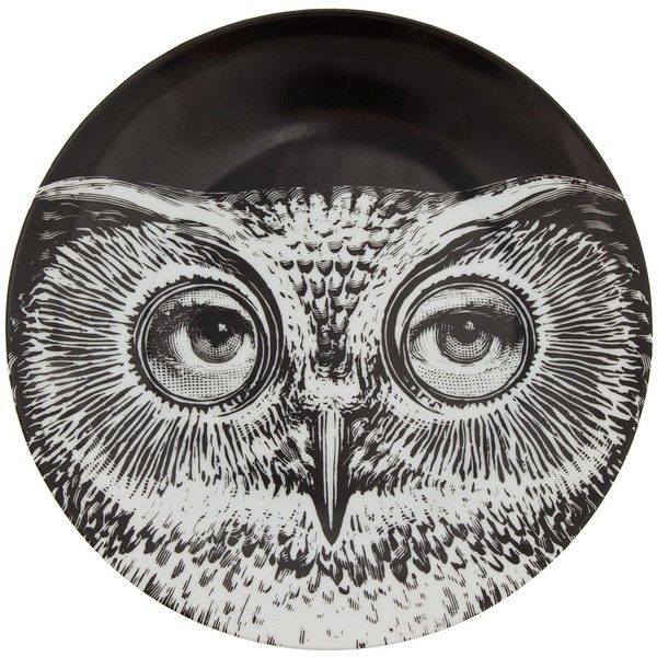 FORNASETTI Plate ($185) ❤ liked on Polyvore