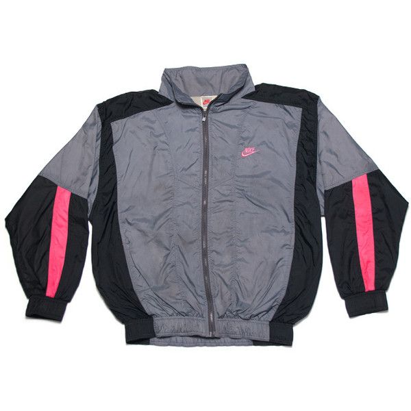 Nike Track Jacket Grey Black Pink ( 85) ❤ liked on Polyvore featuring  activewear 2d1a5599a